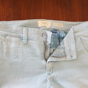 Blue chinos from Anthropologie!